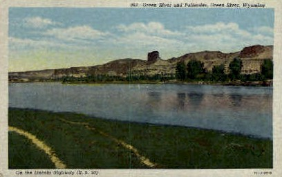 Green River and Palisades - Wyoming WY Postcard