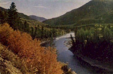 Grand Canyon of the Snake River - Wyoming WY Postcard