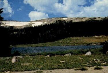 Brooklyn Lake - Wyoming WY Postcard