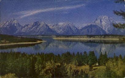 Jackson Lake   - Wyoming WY Postcard