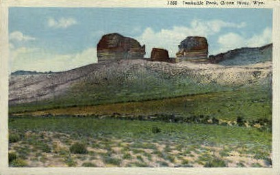 Teakettle Rock - Green River, Wyoming WY Postcard