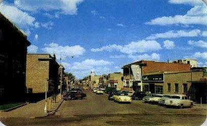 Cedar St. East - Rawlins, Wyoming WY Postcard