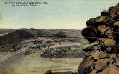 Dale Creek Valley - Scull Rocks, Wyoming WY Postcard