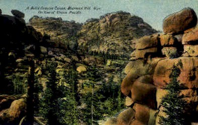 Solid Granite Canon - Sherman Hill, Wyoming WY Postcard