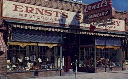 Ernst's Saddlery - Sheridan, Wyoming WY Postcard