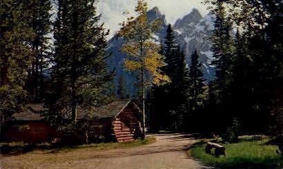 Cottages, Jenny Lake Lodge - Jackson Hole, Wyoming WY Postcard