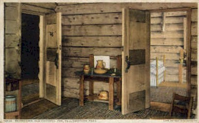 Bedrooms, Old Faithful Inn - Yellowstone National Park, Wyoming WY Postcard