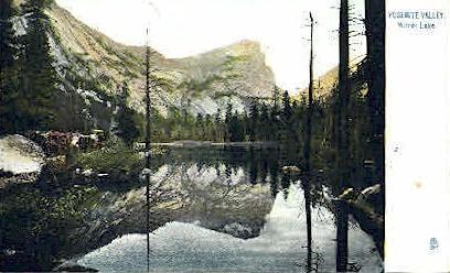 Mirror Lake - Yosemite Valley, Wyoming WY Postcard