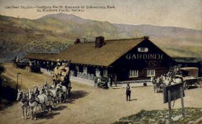 Gardiner Station - Yellowstone National Park, Wyoming WY Postcard