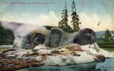 Grotto Geyser - Yellowstone National Park, Wyoming WY Postcard