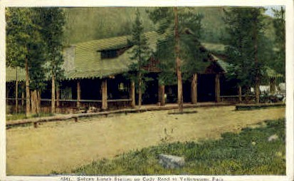 Sylvan Lunch Station, Cody Road - Yellowstone National Park, Wyoming WY Postcard