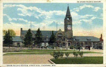 Union Pacific Station - Cheyenne, Wyoming WY Postcard
