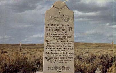 Oregon Trail Divides - Farson, Wyoming WY Postcard
