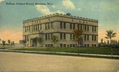 Coffeen Ave. School - Sheridan, Wyoming WY Postcard