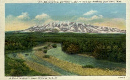 Elk Mountain - Hanna, Wyoming WY Postcard