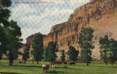 Palisades Park - Green River, Wyoming WY Postcard
