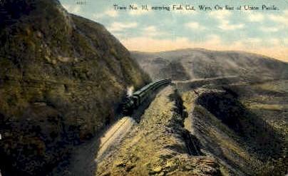Train No. 10 - Fish Cut, Wyoming WY Postcard
