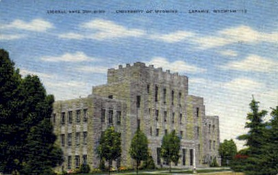 Liberal Arts Bld, U of Wyoming - Laramie Postcard