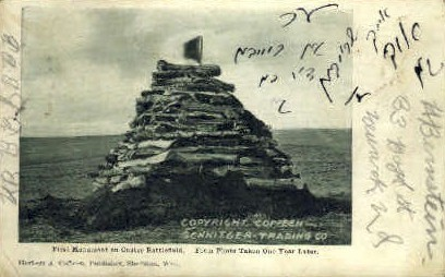 First Monument - Custer Battlefield, Wyoming WY Postcard