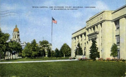 State Capitol & Supreme Court Building - Cheyenne, Wyoming WY Postcard