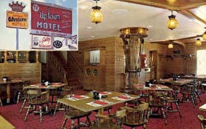 Uptown Motel & Galley Restaurant - Casper, Wyoming WY Postcard