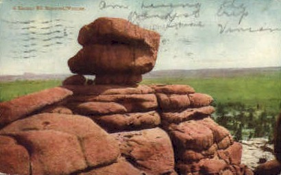 A Sheman Hill Monument - Misc, Wyoming WY Postcard