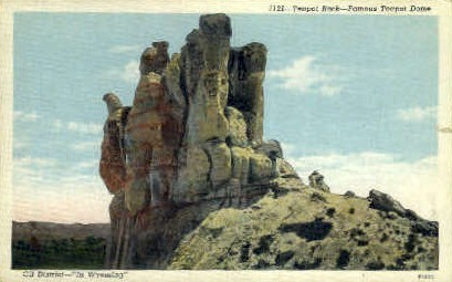 Teapot Rock - Teapot Dome, Wyoming WY Postcard
