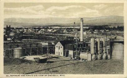 Oil Refinery  - Greybull, Wyoming WY Postcard