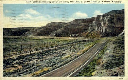 Cliffs - Bitter Creek, Wyoming WY Postcard