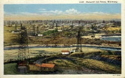 Oil Fields - Misc, Wyoming WY Postcard