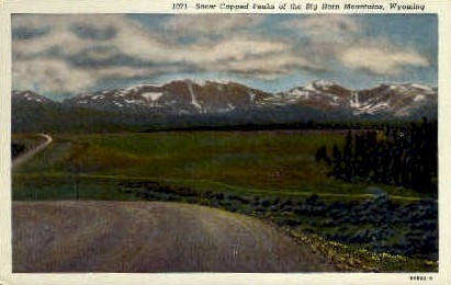 Big Horn Mountains, WY Postcard      ;      Big Horn Mountains, Wyoming