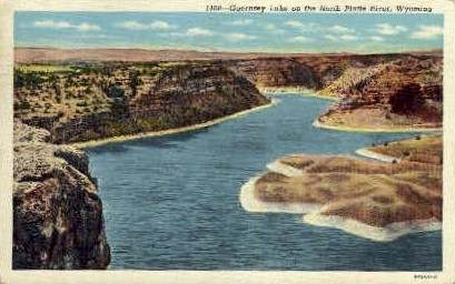 Guernsey Lake  - North Platte River, Wyoming WY Postcard