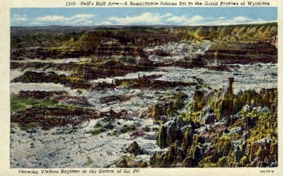 Hell's Half Acre, WY Postcard      ;      Hell's Half Acre, Wyoming