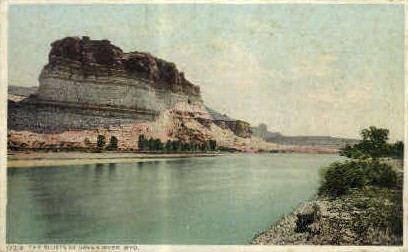 The Bluffs - Green River, Wyoming WY Postcard