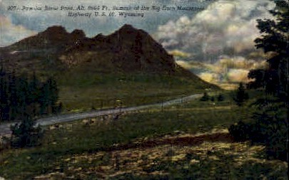 Powder River Pass - Big Horn Mountains, Wyoming WY Postcard