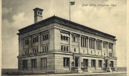 Post Office - Cheyenne, Wyoming WY Postcard