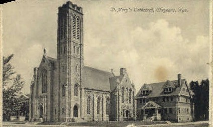 St. Mary's Cathedral - Cheyenne, Wyoming WY Postcard