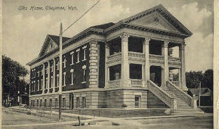 Elks Home  - Cheyenne, Wyoming WY Postcard