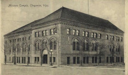 Masonic Temple - Cheyenne, Wyoming WY Postcard