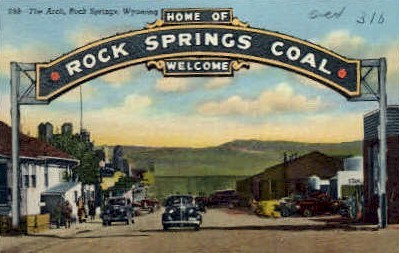The Arch - Rock Springs, Wyoming WY Postcard