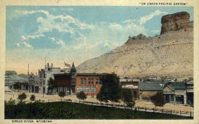 On Union Pacific Syster - Green River, Wyoming WY Postcard