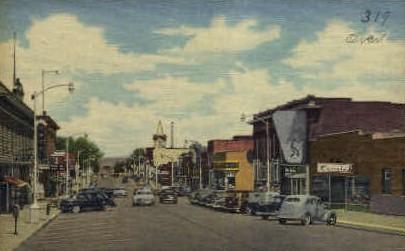 Cedar St. - Rawlins, Wyoming WY Postcard