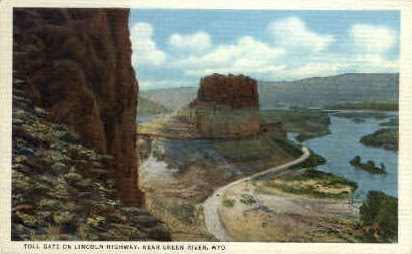 Toll Gate - Green River, Wyoming WY Postcard
