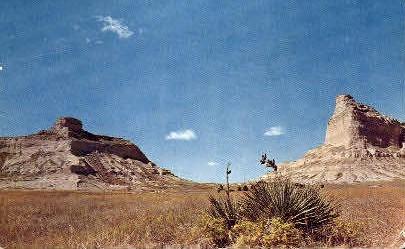 Mitchell Pass - Scottsbluff National Monument, Wyoming WY Postcard