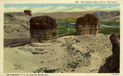 Red Buttes - Green River, Wyoming WY Postcard