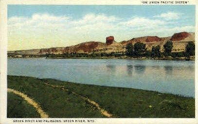 Green River & Palisades - Wyoming WY Postcard