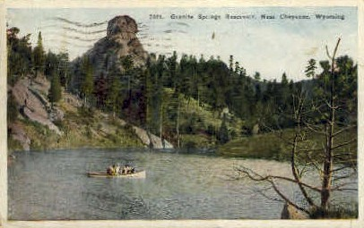 Granite Springs Reservoir - Cheyenne, Wyoming WY Postcard