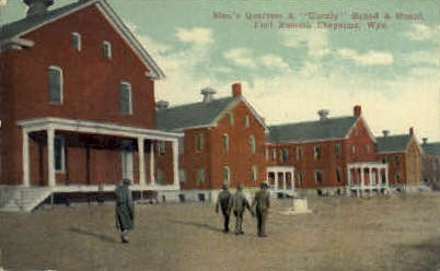 Men's Quarters & Unruly Squad & Guard - Fort Russel, Wyoming WY Postcard