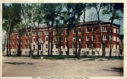 Pershing Memorial Hospital - Cheyenne, Wyoming WY Postcard