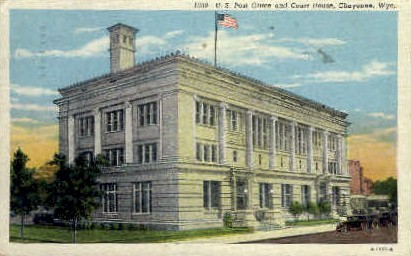 U.S. Post Office & Court House - Cheyenne, Wyoming WY Postcard